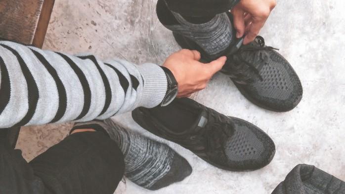 atrito com calçados