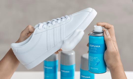 Espuma limpadora para couro e sintético palterm limpeza de tênis branco