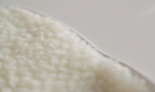 Detalhe da Palmilha Quentinha Palterm em lã antialérgica